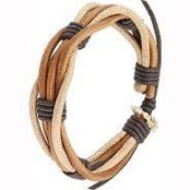 Lederarmband brown.